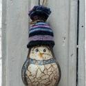 Karácsonyfadísz (pingvin), Régi izzó újrahasznosítva pingvines karácsony...