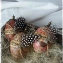 Húsvéti antik tojás (3 darabos szett), Húsvéti díszek, Dekoráció, Otthon, lakberendezés, Dísz, Antik hatású, decoupage technikával készített műanyag tojások.  NEM törik!  A minták darabo..., Meska