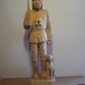 Vadász a kutyájával, Képzőművészet, Szobor, Fa, Famegmunkálás, Kőrisfából készitettem. Mérete:14x13x56cm, Meska