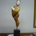 Buddha , Képzőművészet, Szobor, Fa, Hássfa festve. Mérete: 14x12x55cm, Meska