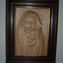 Madonna, Képzőművészet, Napi festmény, kép, Fából készüt bekeretezett falikép. Mérete. 40x50x8 cm, Meska
