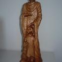 Nevelő, Képzőművészet, Szobor, Fa, Cseresznye fából készült. Mérete:13x8x55cm., Meska