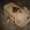 Marhabőr táska, vésve,festve - Steixner, Férfiaknak, Táska, Bőrművesség, Ötvös, Kézzel varrott(180kg-os szakító szilárdságú ,előre viaszolt cérnával),fűzött(saját anyagából), marh..., Meska