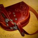 """""""Edit"""" női táska  ( AN32) Steixner, Férfiaknak, Táska, Kézzel fűzött,(egy szálemeléses technikával),kiváló minőségű  marhabőr kis táska, szegecselt,vésett,..., Meska"""