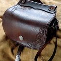 """""""Zsenett"""" női táska  ( AN51) Steixner, Férfiaknak, Táska, Kézzel fűzött,(egy szálemeléses technikával),kiváló minőségű  marhabőr kis táska, szegecselt,vésett,..., Meska"""