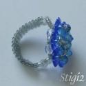 "\\\""Kristály Virágok\\\"" gyűrű, Swarovski kristály gyöngyökből készült gyűr..."