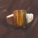 Gitta megrendelése, Ékszer, Gyűrű, Tigris szem gyűrű, drótos kivitelezés., Meska