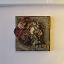 Spirit, Dekoráció, Képzőművészet, Kép, Vegyes technika, Feszített vászonra, vegyes technikával készült kép. Mérete 15*15 cm. , Meska