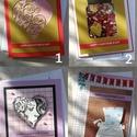 Valentin, Bálint napi képeslapok, Szerelmeseknek, Naptár, képeslap, album, Képzőművészet, Képeslap, levélpapír, Papírművészet, 10 db különböző Valentin/Bálint napi képeslap, borítékkal. 9 db 11x14 cm és 1 db 13x15,5 cm. , Meska