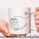 Teás bögre, grafikás bögre, egyedi teás bögre, teafilter, Konyhafelszerelés, Otthon, lakberendezés, Férfiaknak, Bögre, csésze, Mindenmás, Decoupage, transzfer és szalvétatechnika, Egyedi bögre ismerőseid, szeretteid számára. Kreatív bögre egyedi teás grafikával (CREATIVI.TEA)  J..., Meska