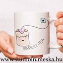 Teás bögre, grafikás bögre, egyedi teás bögre, teafilter, Konyhafelszerelés, Otthon, lakberendezés, Férfiaknak, Bögre, csésze, Mindenmás, Decoupage, transzfer és szalvétatechnika, Egyedi bögre ismerőseid, szeretteid számára. Kreatív bögre egyedi teás grafikával (SIMPLICI.TEA)  J..., Meska
