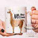 """Llama Bögre, No Prob-llama feliratos bögre, ajándék lámás bögre, Konyhafelszerelés, Otthon, lakberendezés, Bögre, csésze, Lámás bögre """"No Prob-Llama"""" felirattal. A feliratot felár ellenében akár meg is változtathatod.  Eze..., Meska"""