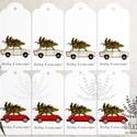 Karácsonyi autós ajándékkísérő, ünnepi ajándékkísérő, trabant ajándékkártya, , Naptár, képeslap, album, Dekoráció, Ajándékkísérő, Képeslap, levélpapír, Add át ajándékaid stílusosan fiúnak vagy lánynak ezekkel a helyes autós ajándékkísérőkkel. _________..., Meska