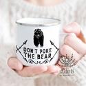 Bádog bögre, retro bögre, medvés zománc bögre, férfi ajándék bögre, medvés bádog bögre, Konyhafelszerelés, Férfiaknak, Bögre, csésze, Legénylakás, Bádog bögre férfiaknak, akik nem szeretik, ha piszkálják őket:)  A bögrén egy medve grafikája láthat..., Meska