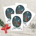 Karácsonyi mini kártya, nyuszis ünnepi ajándékkísérő, kinyitható ajándékátadó mini képeslap, Otthon & lakás, Naptár, képeslap, album, Ajándékkísérő, Képeslap, levélpapír, Fotó, grafika, rajz, illusztráció, Nyuszis mini karácsonyi ajándékkísérő kártya. Ünnepi kinyitható ajándékkísérő, ajándékátadó. ______..., Meska