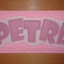 Petra, Naptár, képeslap, album, Könyvjelző, Varrás, Névre szóló könyvjelző.  Filc anyagból készítettem.  Mérete: 7 cm x 16 cm, Meska