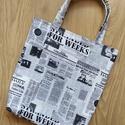 Újságmintás táska, Újságmintás táska  Mérete: magassága: 38 cm ...