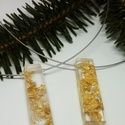 Műgyanta nyaklánc aranyfóliával, Ékszer, Nyaklánc, Műgyanta medál aranyfólia darabokkal., Meska