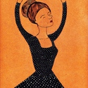 A táncos, Dekoráció, Képzőművészet, Baba-mama-gyerek, Gyerekszoba, Festészet, Fotó, grafika, rajz, illusztráció, Akril illusztráció.  mérete: 25x35 cm, Meska