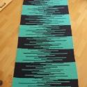 kék és zöld, Otthon, lakberendezés, Lakástextil, Szőnyeg, Szövés, Pamut és müszálas anyagból készült,mosógépben mosható. mérete:164x70cm, Meska