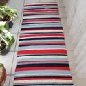 színes csíkos szőnyeg, Otthon, lakberendezés, Lakástextil, Szőnyeg, Vidám színekből készült, szőnyeg. Mosógépben mosható. mérete:155x65 cm, Meska