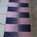 Rózsaszín-lila variációs szőnyeg, Otthon, lakberendezés, Lakástextil, Szőnyeg, Szövés, Pamut és müszál keverékből készült, kézi szövéssel, mosógépben mosható, jól használható, strapabíró..., Meska