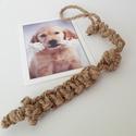 Kenderkötél, Otthon & Lakás, Kisállatoknak, Kutyáknak, Csomózás, Ezt a kutya játékot kutyáknak készítettem. Kenderkötélből csomózással készítettem. A fogójánál lehe..., Meska