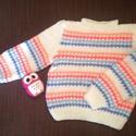 Kézzel kötött pulóver!, Ruha, divat, cipő, Gyerekruha, Baba (0-1év), Kézzel kötött pulóver!  Hossza: 32 cm. Szélessége: 28 cm. Ujj hossza: 34 cm., Meska