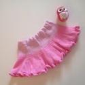 Kézzel kötött babaszoknya, Baba-mama-gyerek, Ruha, divat, cipő, Baba-mama kellék, Gyerekruha, Kézzel kötött babaszoknya! Derék szélesség: 23 cm. Hossza: 20 cm.  , Meska