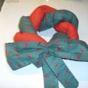 Koszorú textilből, Dekoráció, Karácsonyi, adventi apróságok, Ünnepi dekoráció, Koszorú, Ajtódísz, kopogtató, Varrás, Fonott, csavart, tekert koszorú, ahogyan kéred. Elkészítem 2-3-4 szálból, színből, ahogyan óhajtod...., Meska