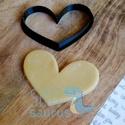 Szív kekszkiszúró, szív sütikiszúró, szív mézeskalács szaggató forma (HRT001), Szív kekszkiszúró, szív sütikiszúró, szív ...