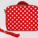 happylina rendelése-piros pöttyös laptop táska, Szívesen készítek az általad kiválasztott any...