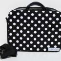 lulliii17 rendelése-Fekete-fehér pötytös laptop táska, Szívesen készítek az általad kiválasztott any...