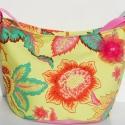 Sárga mintás nagyméretű, vagy pelenkázó táska, Nagyméretű, keresztben is hordható táska, ami ...