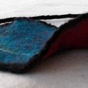 Kétoldalú nemezelt karkötő levél, Ékszer, óra, Karkötő, A termék színes 100% gyapjúból készült , selyem, csalán, bambuk  rost hozzáadásával. , Meska