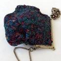 """Nemezelt kis táska  """"Ékszer"""", Táska, Válltáska, oldaltáska, Ez a különleges  kis  táska 100% merinó gyapjúból és hernyó selyem anyagból készült nuno ..., Meska"""