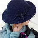 """Nemezelt kalap """" Mélység"""", Ruha, divat, cipő, Kendő, sál, sapka, kesztyű, Kalap 100% gyapjúból készült,  Méret: 56-57. Könnyű, formatartó, vizálló., Meska"""