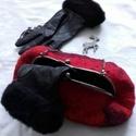 """Nemezelt táska """" Szenvedély """", Táska, Válltáska, oldaltáska,  Nagyon elegáns táska 100% merinó gyapjúból készült, valódi selyem és gyöngyök hozzáadá..., Meska"""