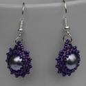 Lila mámor fülbevaló - fifike részére lefoglalva, A lila három árnyalatából készítettem ezt a ...