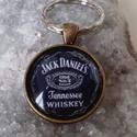 Kulcstaró  Jack Daniels, Férfiaknak, Mindenmás, Sör, bor, pálinka, Kulcstartó, Kulcstaró wiskhys Jack Daniels.  Méret:25 x 25 mm üveglencse., Meska