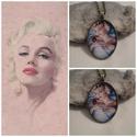 Marilyn Monroe, Ékszer, Medál, Nyaklánc, Marilyn Monroe kedvelőknek készült nyaklánc!Ezt egy 40x30mm  üveglencse alá tettem!  A nyaklá..., Meska