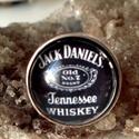 Jack Daniels gyűrű, Ékszer, Gyűrű, Medál, Jack Daniels gyűrű üveglencse alatt.  Üveglencse 18 mm Állítható méret, Meska