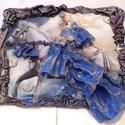 Hercegi lovon /falikép/, Képzőművészet, Fotográfia, Textil, Vegyes technika, Hercegnő hercegi lovon!   25x20 cm MDF lapra készült vegyes technikával,transzfer,decoupage,text..., Meska