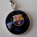 FCB Barcelona rajongóknak kulcstartó, Mindenmás, Férfiaknak, Kulcstartó, Focirajongóknak, FCB Barcelona rajongóknak üveglencsés  kulcstartó! Férfiaknak foci rajongóknak ajánlom!  méret:25 x ..., Meska
