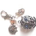 3D bagoly kulcstartó, Ékszer, Mindenmás, Kulcstartó, Mobilékszer, Bagoly kedvelőknek készült kulcstartó a kulcsokhoz!   Anyaga: antik ezüst!, Meska