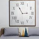 Óriás, Farmhouse stílusú óra 1méter!!!, Bútor, Otthon, lakberendezés, Falióra, óra, Az óriás, farmhouse stílusú óráink mindegyike, újrahasznosított raklaplécekből készül (r..., Meska