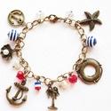 Tengerész karkötő, Ékszer, Karkötő, Irány a tengerpart! :)  antikolt színű tengerész karkötő  A karkötőt tengerész témájú me..., Meska