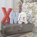 X-MAS, Dekoráció, Ünnepi dekoráció, Mindenmás, 3D X-MAS feirat. Azonnal elvihető! X magassága: 29 cm MAS betűk magassága: 21 cm Betűk vastagsága 5..., Meska