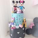 Mickey egeres torta, Dekoráció, Gyereknap, Dísz, Mickey & Minnie szülinapi torta. Magasság: 30 cm, Meska