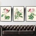 Vintage rózsák faliképek, virágos faliképek, nappali dekoráció, romantikus dekor, Baba-mama-gyerek, Gyerekszoba, Baba falikép, Kiváló minőségű képek, faldekoráció - vintage rózsák  - Mérete: A4 - 250 grammos texturá..., Meska